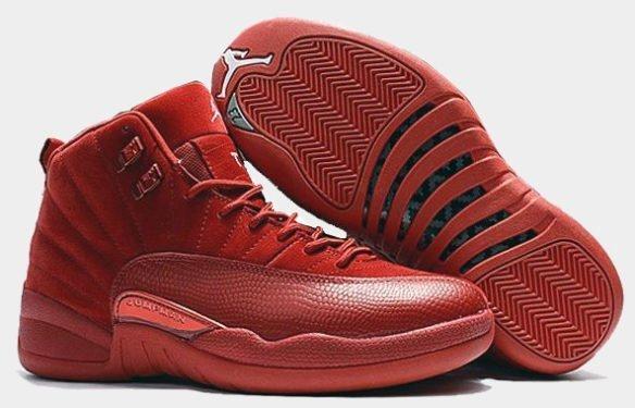 Фото Air Jordan 12 Retro Red Suede красные - 2