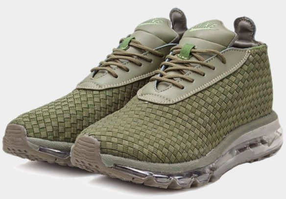 Фото Nike Air Max Woven Boot зеленые - 2